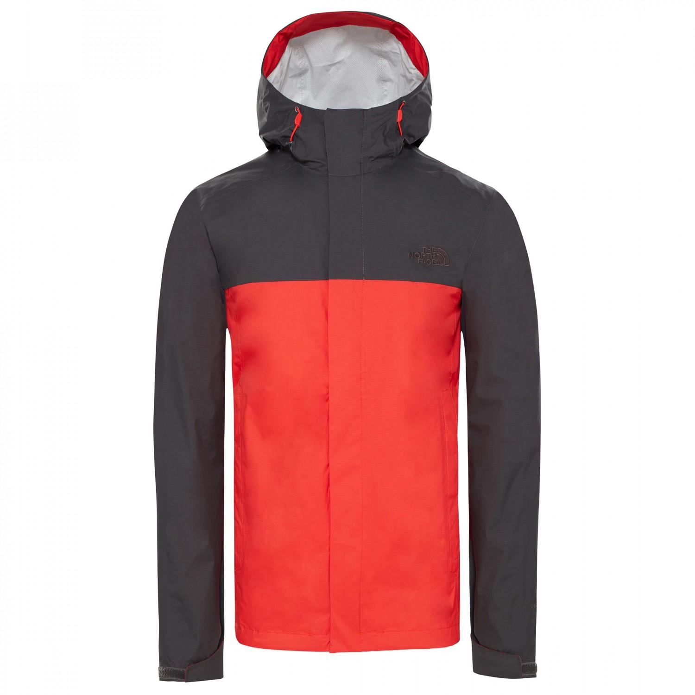 1030a7493 The North Face - Venture 2 Jacket - Waterproof jacket - Fiery Red / Asphalt  Grey | XXL