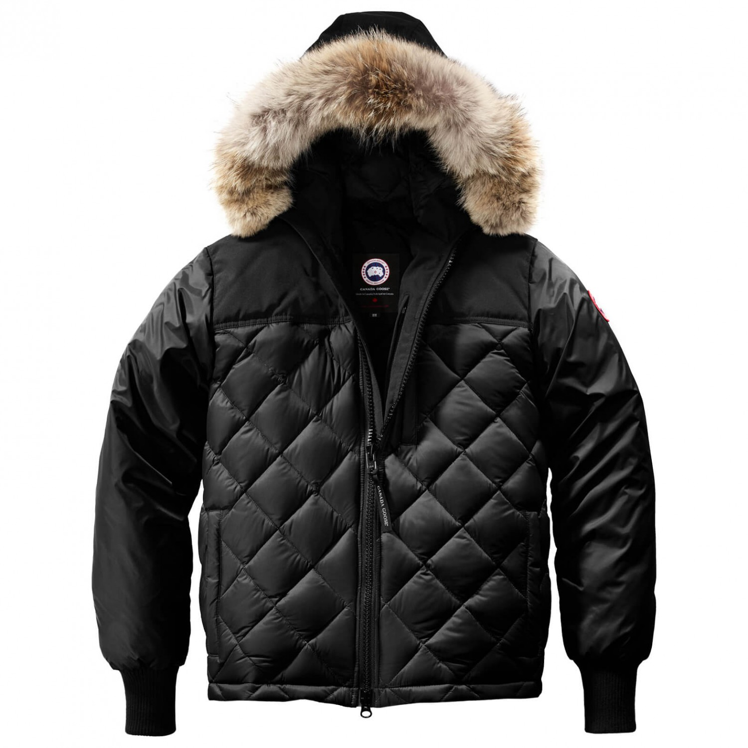 canada goose black fur jacket