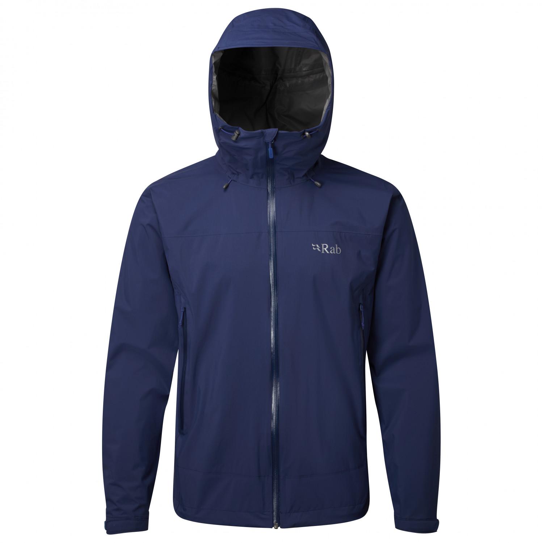 Rab Downpour Plus Jacket Regenjacke Black | S