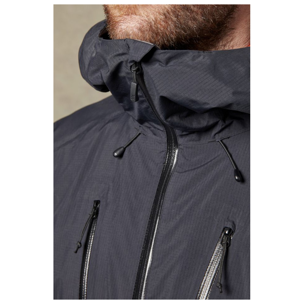 Rab Downpour Plus Jacket Regenjacke Black | S