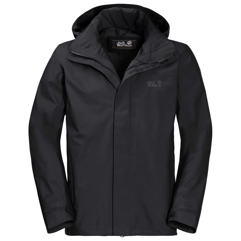 Imperméable Highland Jack Wolfskin Jacket Veste BlackS Short Nnm80wv