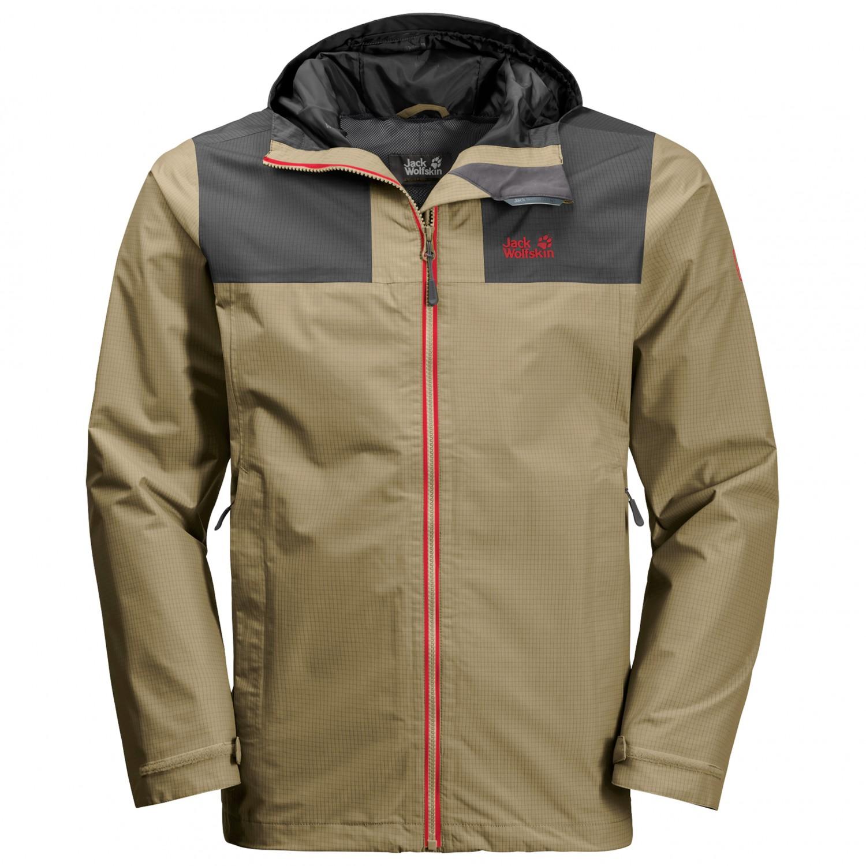 innovative design c3f92 237c1 Jack Wolfskin - Jasper Peak Jacket - Regenjacke - Sandstone   S