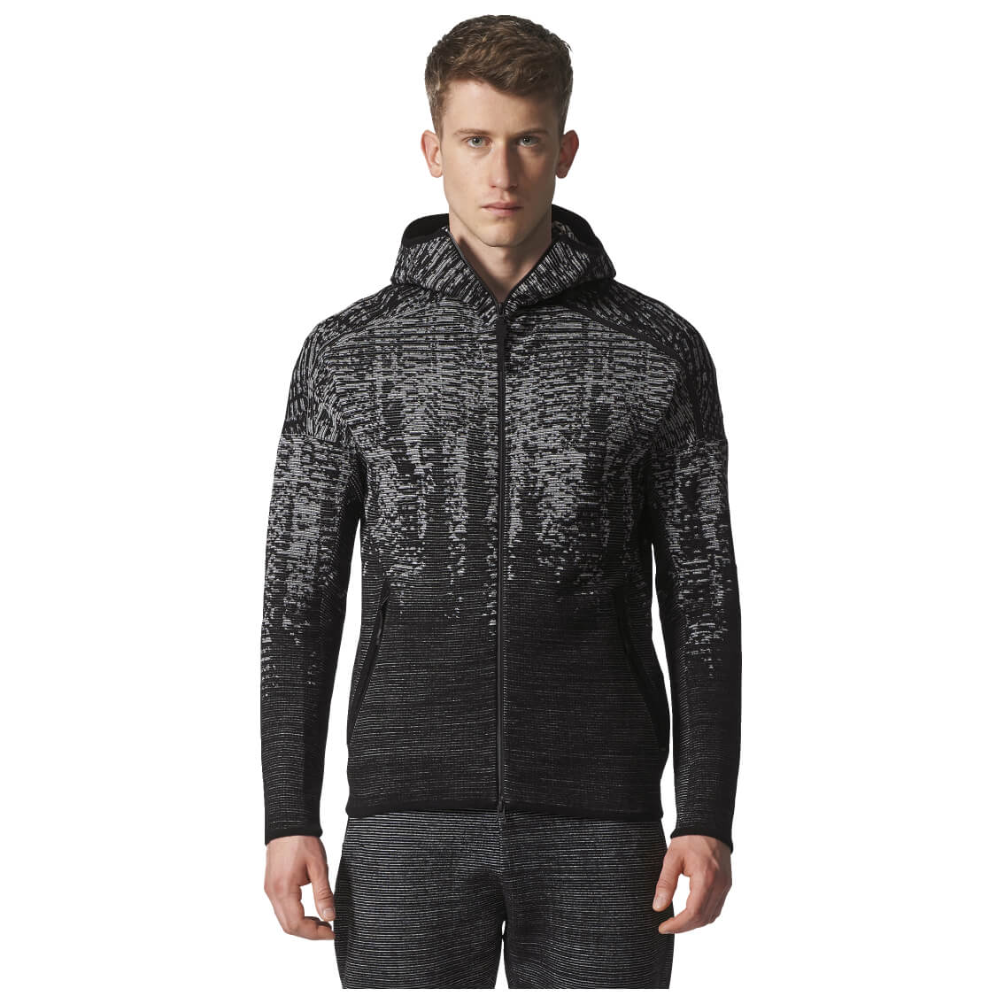 adidas zne pulse kn hoody sweat jackets tracksuit tops. Black Bedroom Furniture Sets. Home Design Ideas