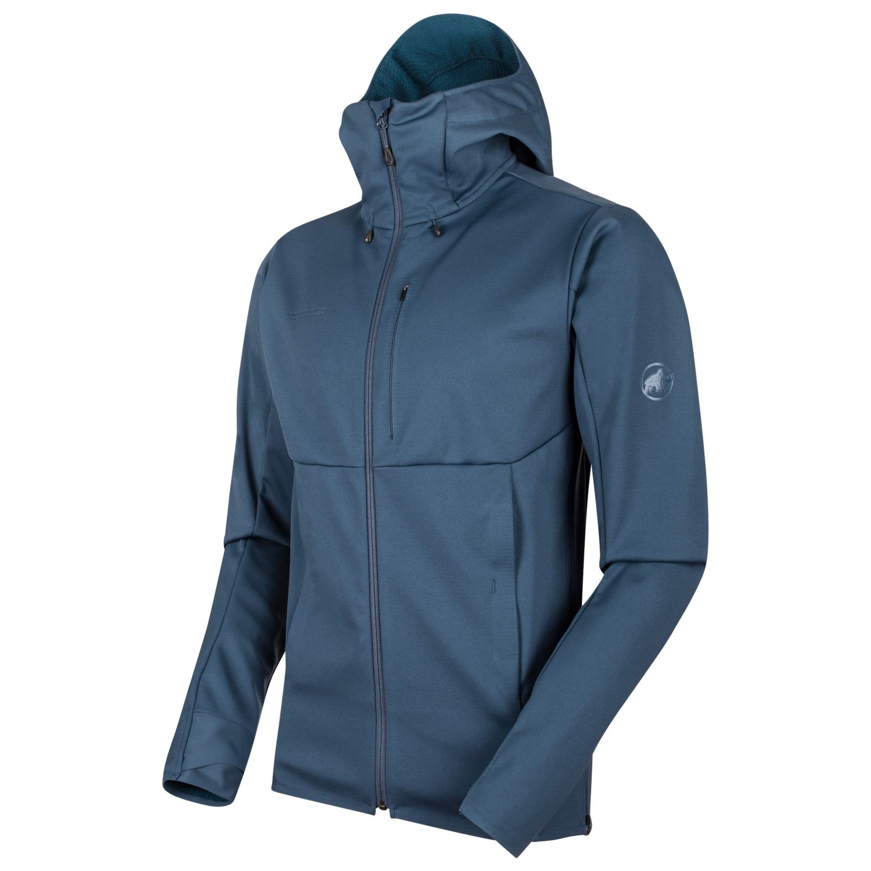 online retailer fb8b1 baa5d Mammut - Ultimate V SO Hooded Jacket - Softshell jacket - Black / Black | S