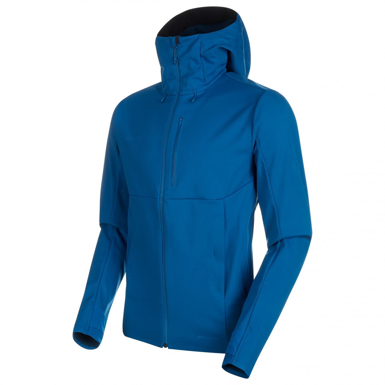 307d98dc Mammut - Ultimate V So Hooded Jacket - Chaqueta softshell - Dark Teal /  Teal Melange | S