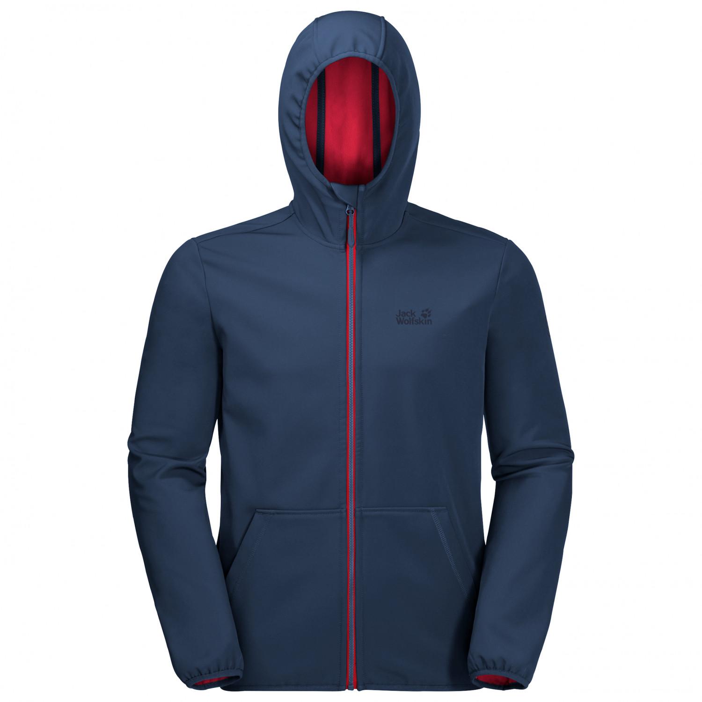 pretty nice 28551 42b94 Jack Wolfskin - Essential Peak Jacket - Softshell jacket - Dark Indigo | M