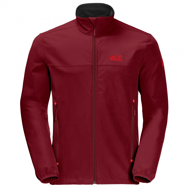 sale retailer 05353 5fb5e Jack Wolfskin - Crestview Jacket - Softshelljacke - Red Maroon | M