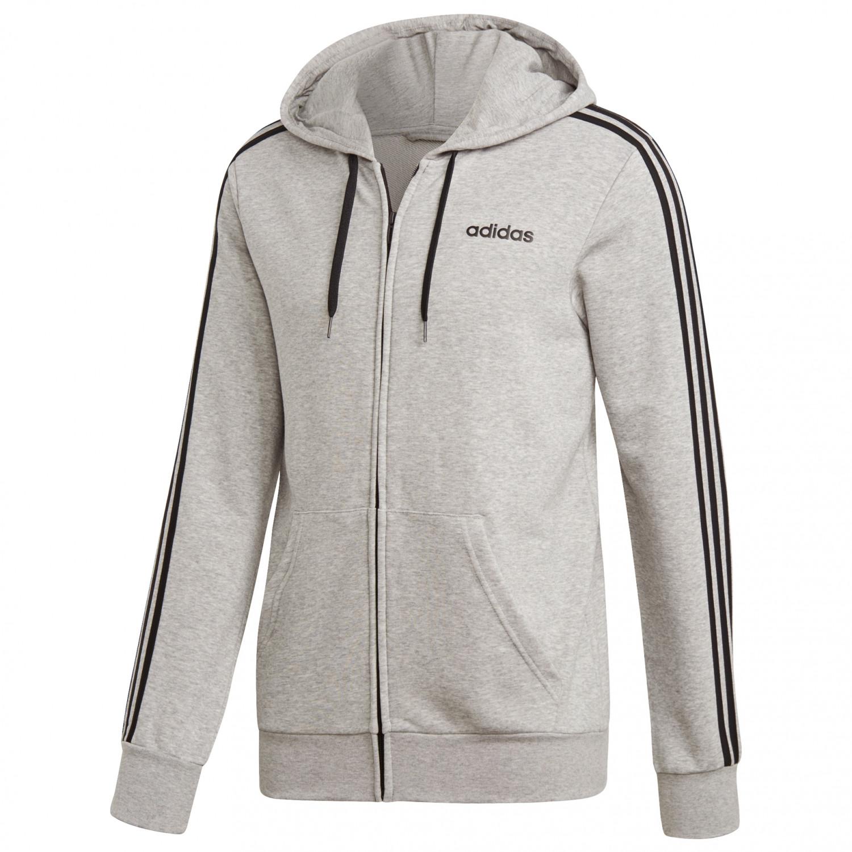 adidas Essentials 3 Streifen Fullzip Trainingsjacke Training jacket Medium Grey Heather Black | S