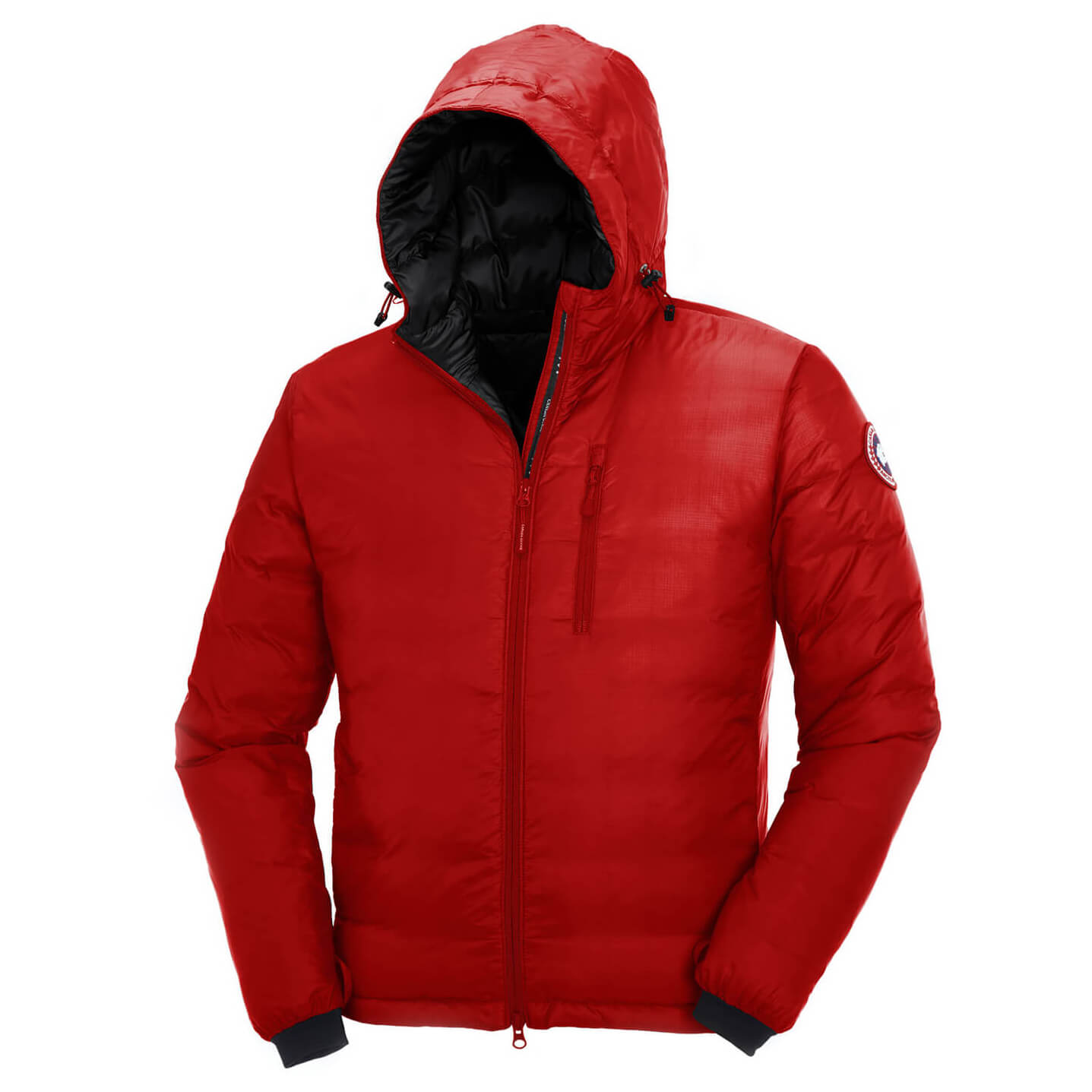 Canada Goose Lodge Down Hoody Down jacket Red Black | XXL