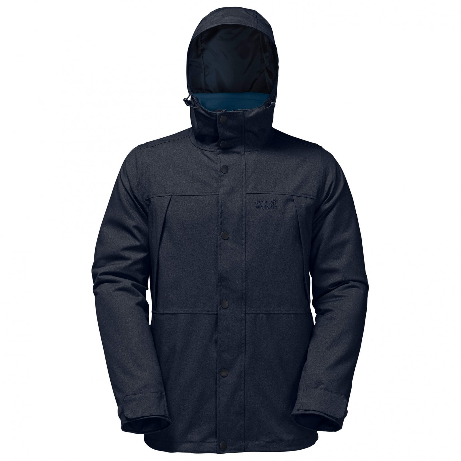 jack wolfskin harbour bay black heren