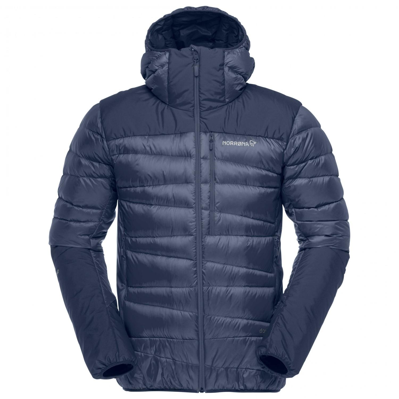 Indigo Jacket NightM Daunenjacke Down750 Norrøna Falketind Hood 7vYbg6Ifym