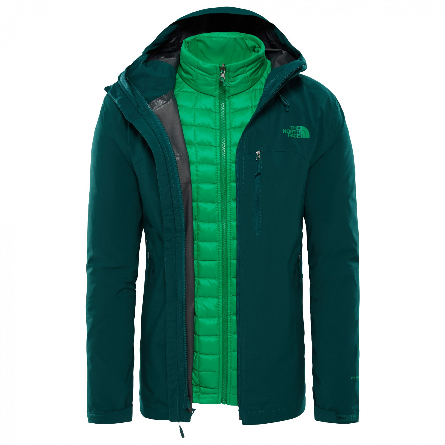 3ae13e2e8 The North Face - Thermoball Triclimate Jacket - 3-in-1 jacket - TNF Black /  TNF Black | XS