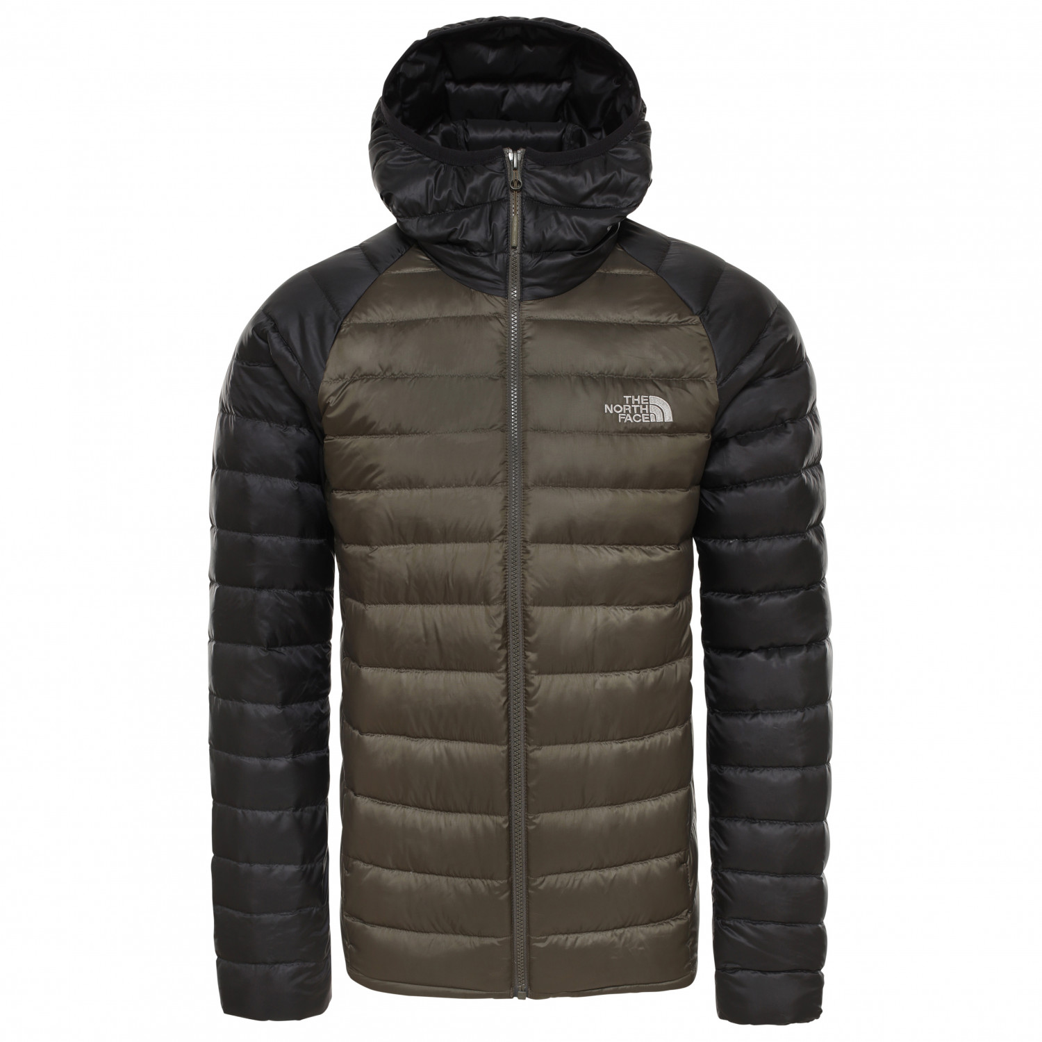 brand new 00254 91c36 The North Face - Trevail Hoodie - Giacca in piumino - New Taupe Green / TNF  Black | S
