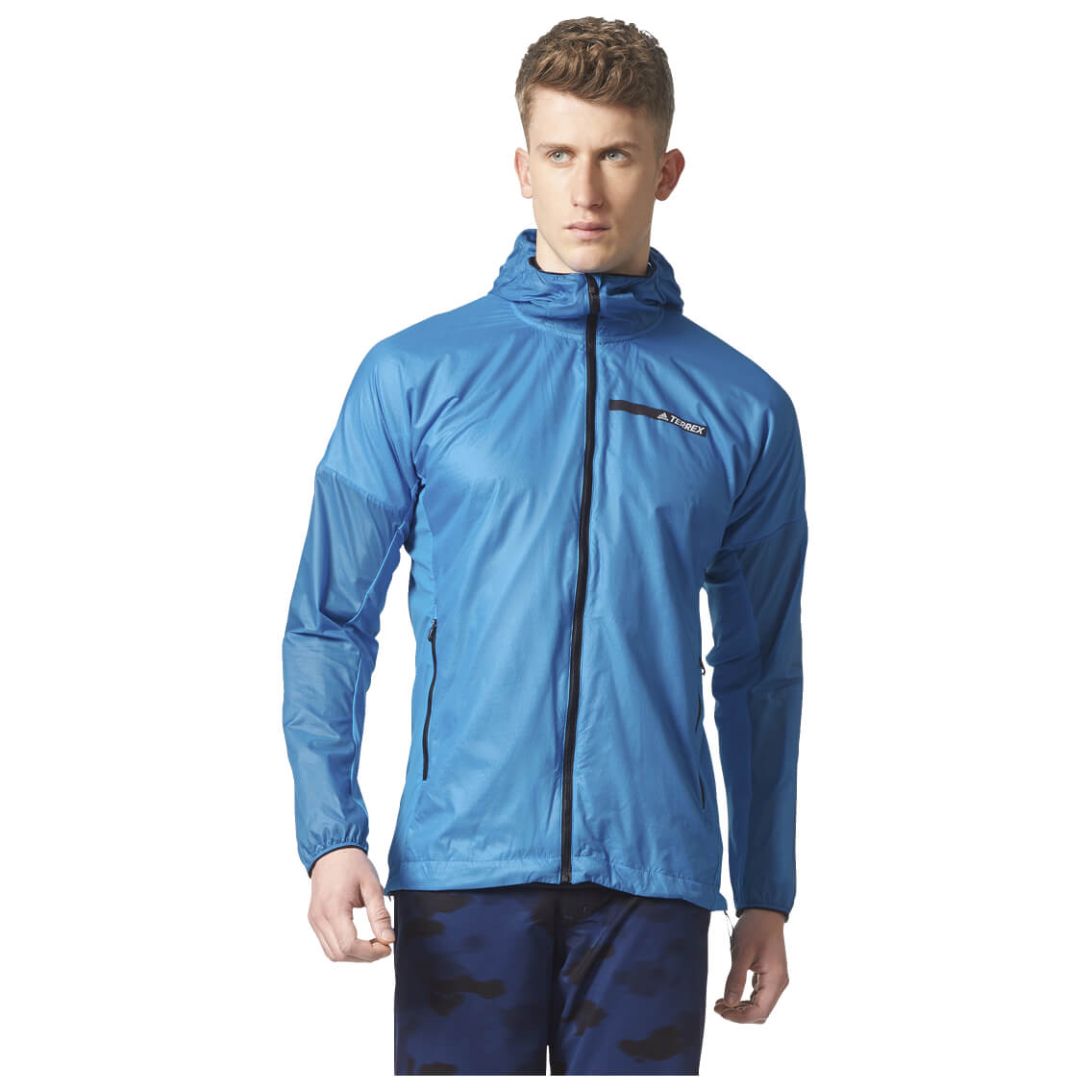 adidas TERREX Agravic Alpha Hooded Shield Jacke Blau
