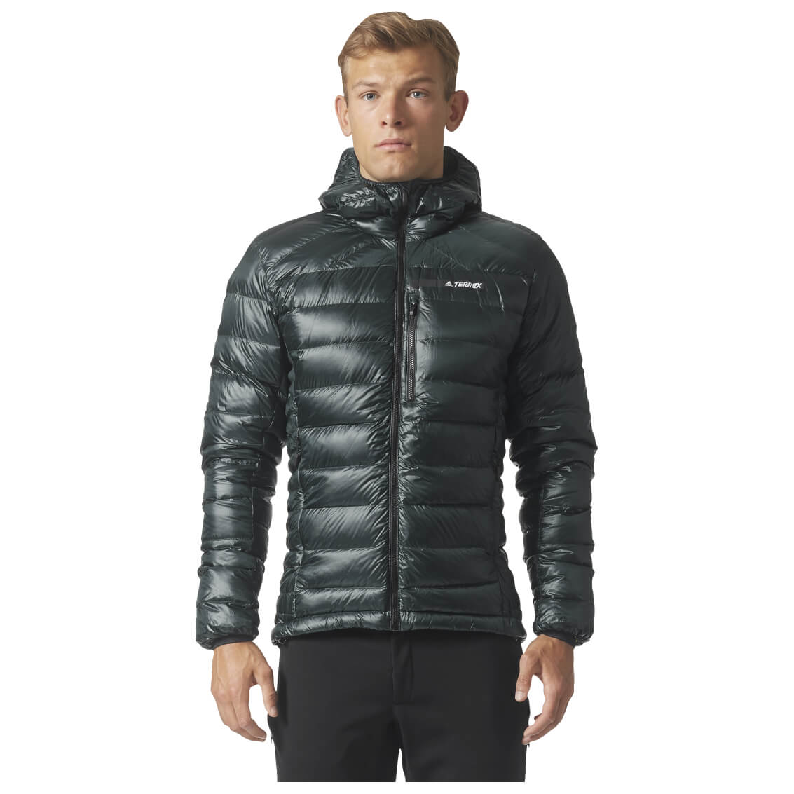 adidas terrex climaheat agravic down hooded jacket men 39 s. Black Bedroom Furniture Sets. Home Design Ideas