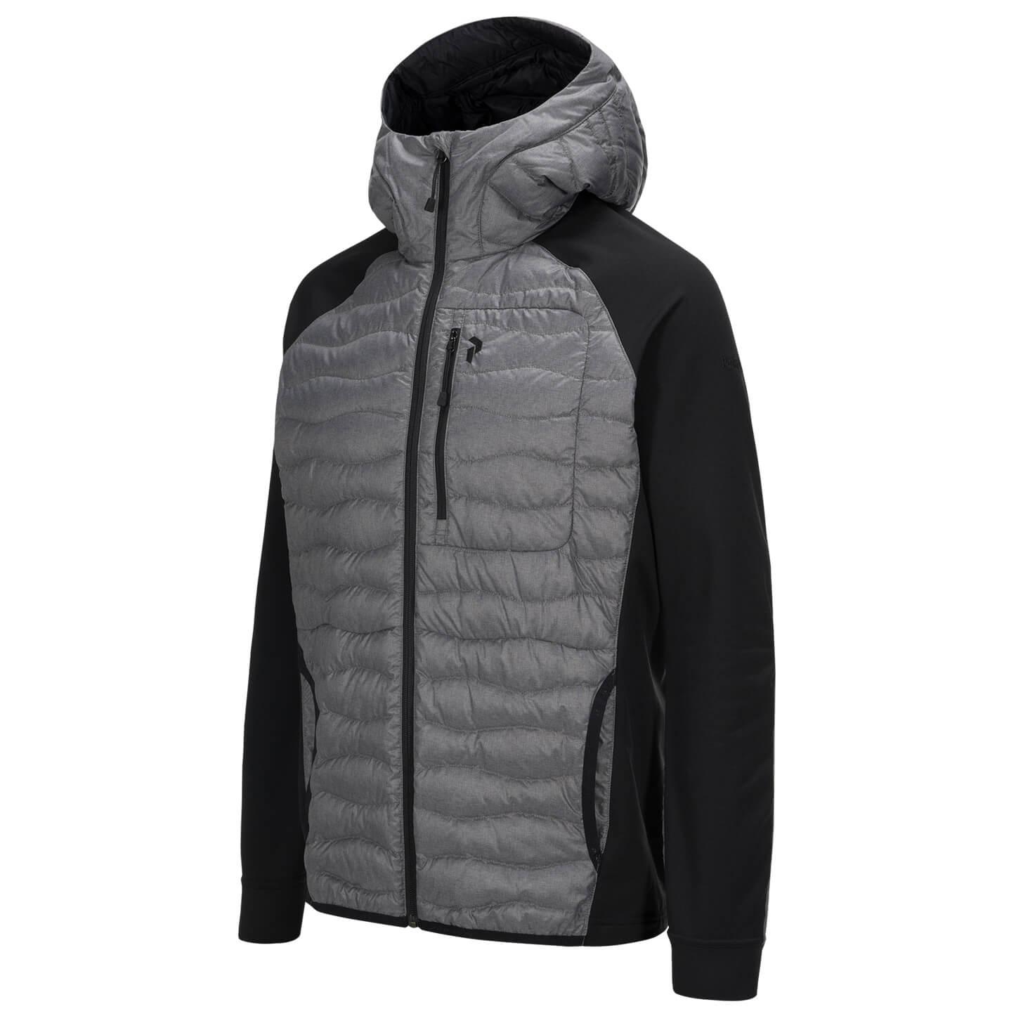 Peak Performance Helium Hybrid Hooded Jacket Melange Grey Melange   S