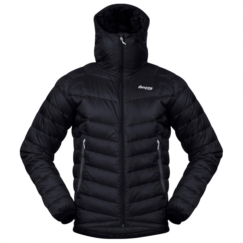 Bergans Slingsby Down Light Jacket With Hood Down jacket Black Solid Dark Grey | L