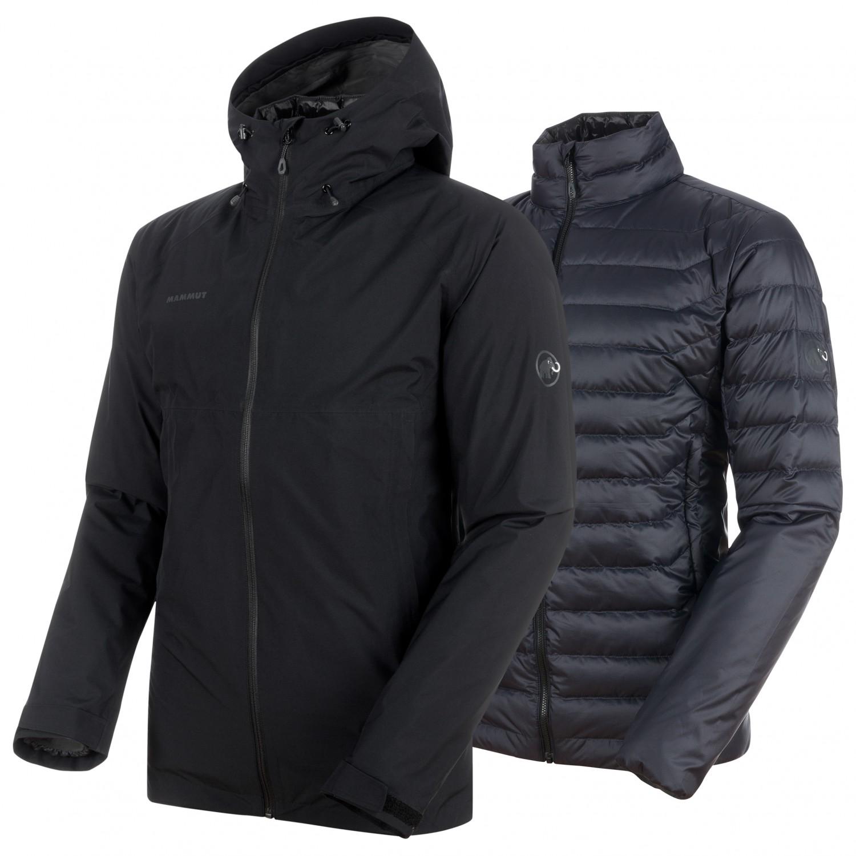 cheaper a6bfb b87d2 Mammut - Convey 3 in 1 HS Hooded Jacket - Doppeljacke - Black / Black | S