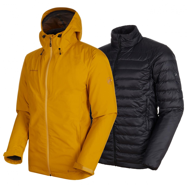 cheaper fccb3 f18f9 Mammut - Convey 3 in 1 HS Hooded Jacket - Doppeljacke - Black / Black | S