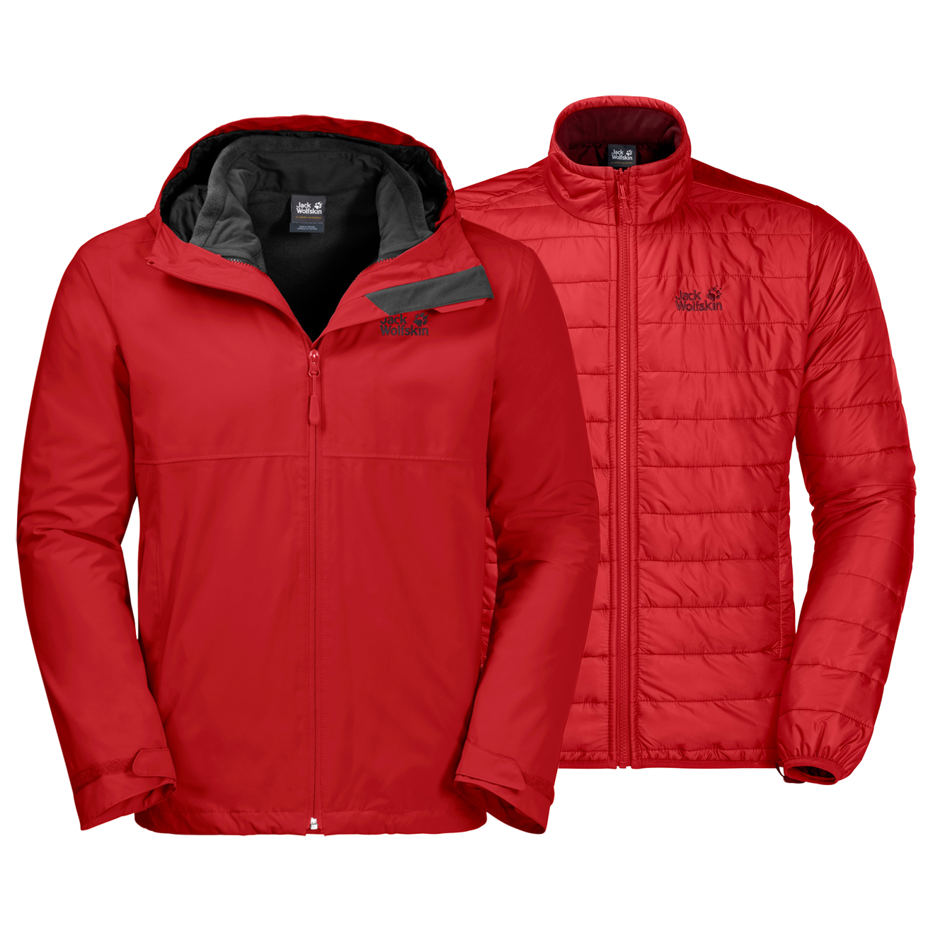 new arrivals e7915 96cc1 Jack Wolfskin North Fjord Jacket - Giacca doppia Uomo ...
