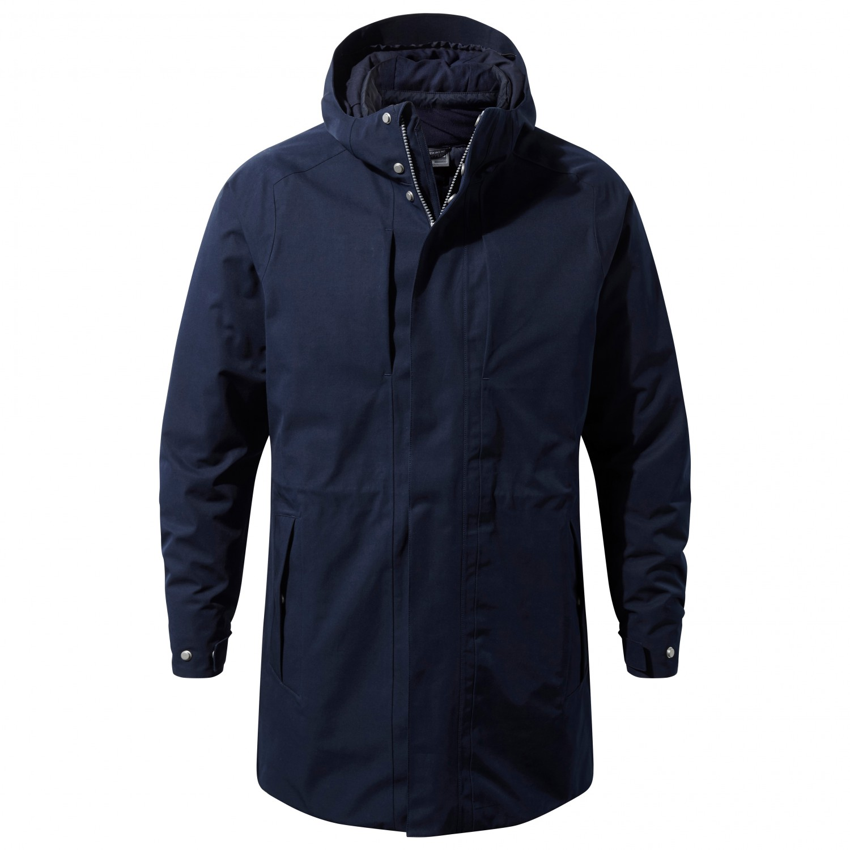 Craghoppers Mens Eoran Jacket Insulated Coat Top Waterproof Breathable Cotton
