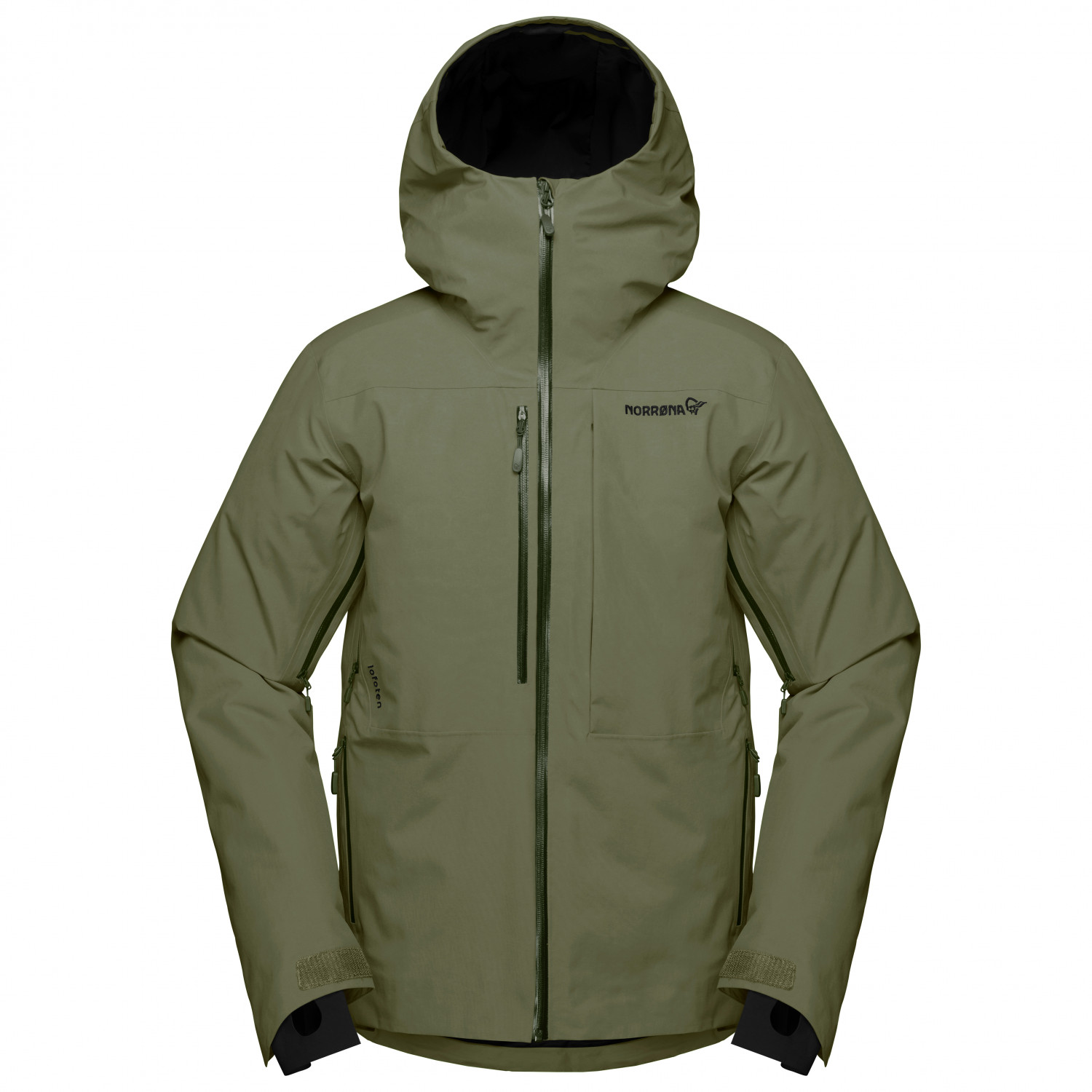 Norrøna Lofoten Gore Tex Insulated Jacket Skijacke Olive Night | S
