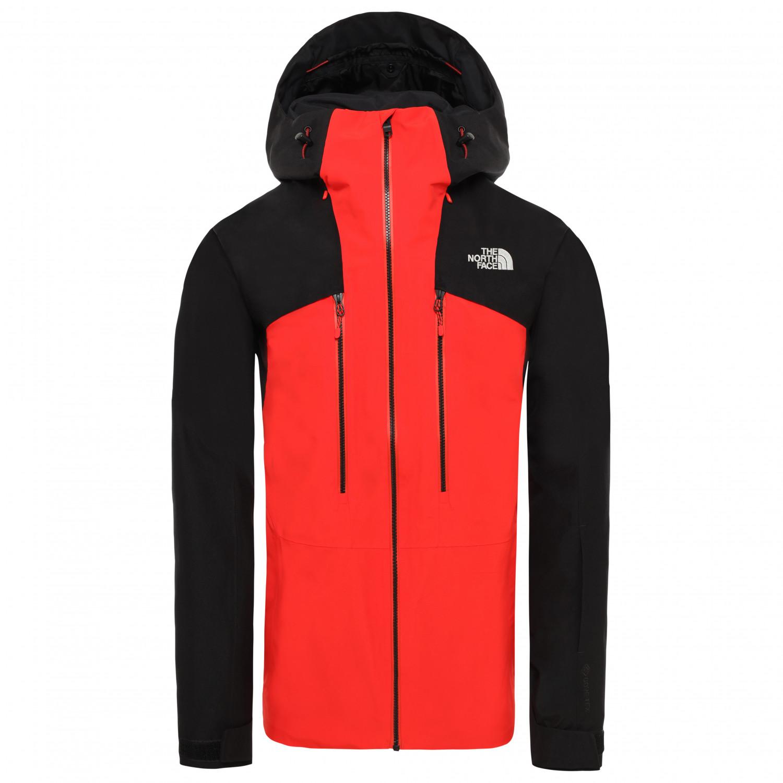The North Face Powderflo Jacket Skijacke Fiery Red TNF Black | S