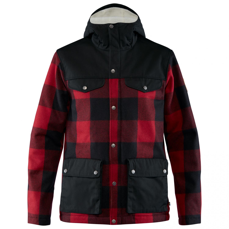 Fjällräven Greenland Re Wool Jacket Winterjacke Red Black | S