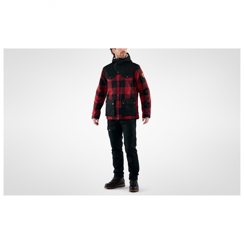 Fjällräven Greenland Re Wool Jacket Vinterjacka Red Black | S