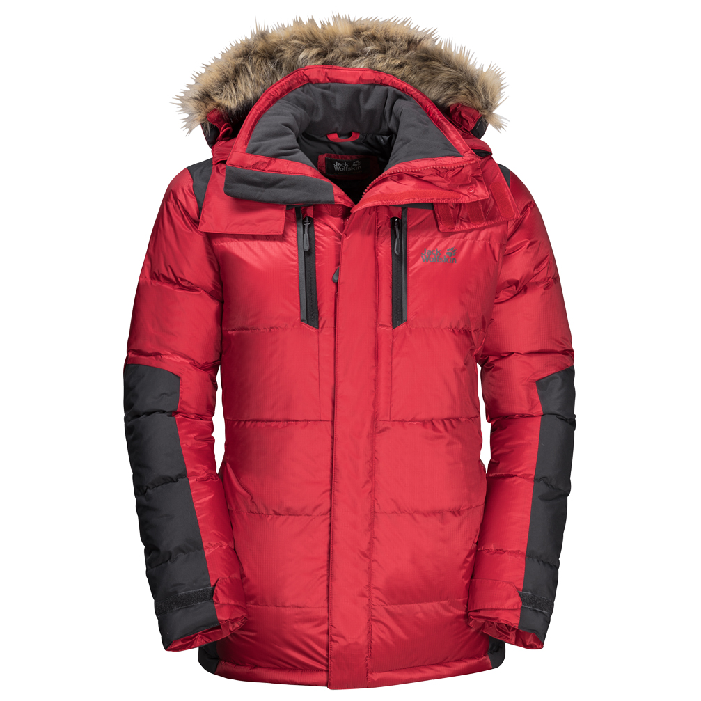 LacquerS The Wolfskin Red Parka Daunenjacke Jack Cook F1K3lJcT