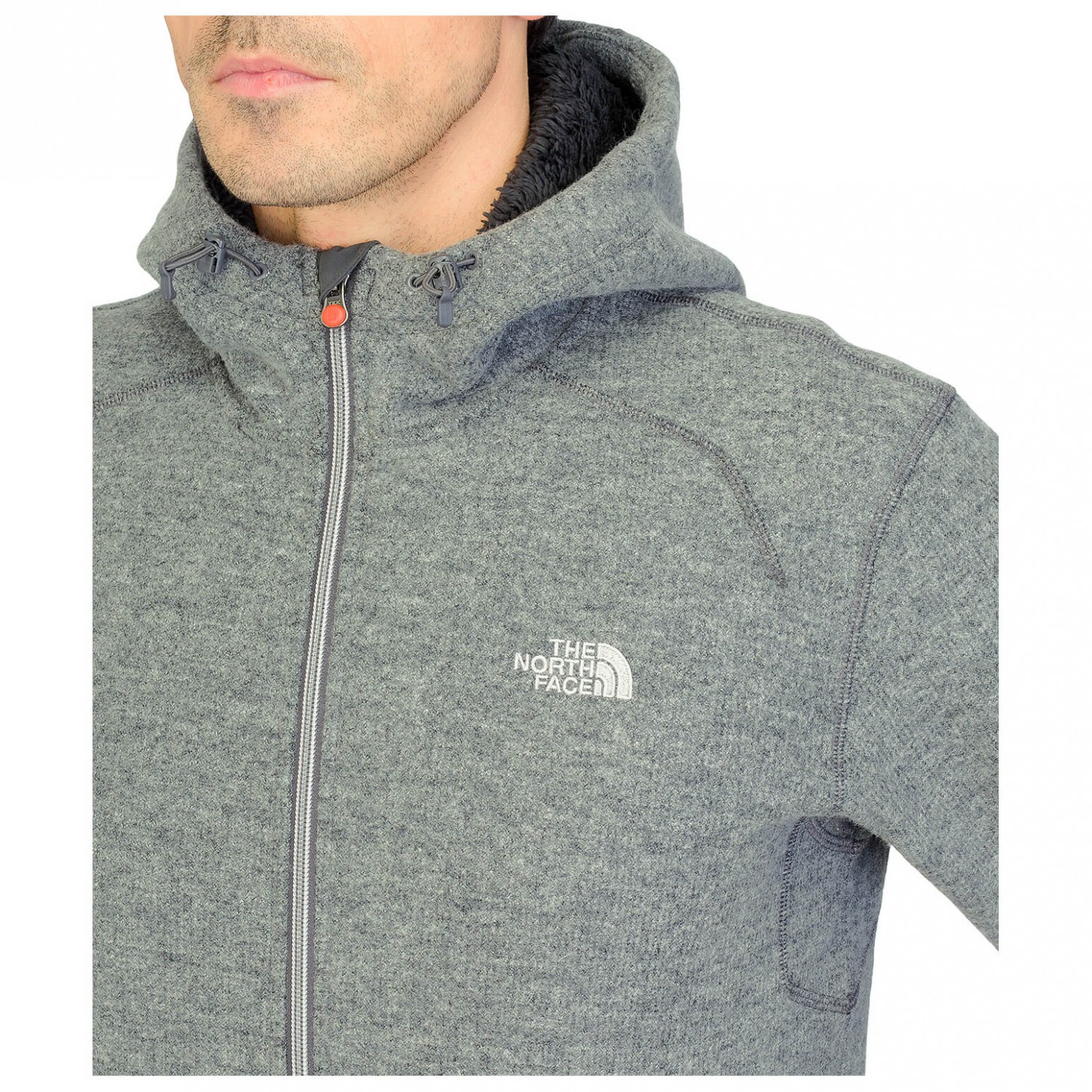 Uomo Zermatt In Face Pile North Hoodie Zip Full The Giacca TZwzEqa0 7ae230c01d71