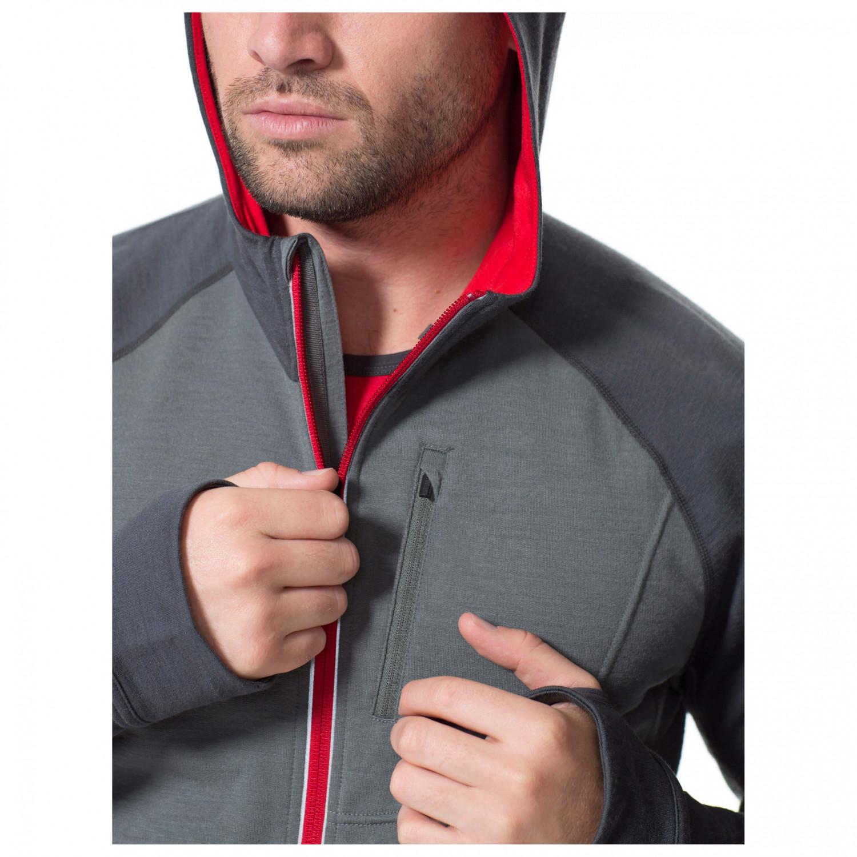 Mens Icebreaker Quantum Hooded Full-Zip Shirt