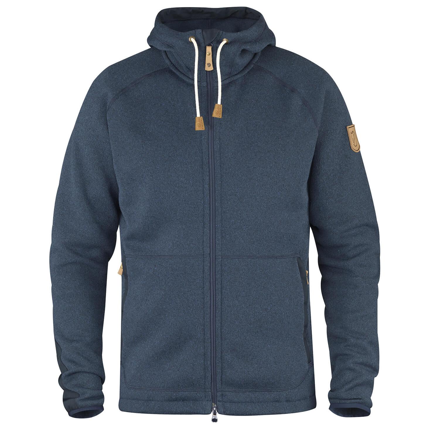 neues so billig anders Fjällräven - Övik Fleece Hoodie - Fleecejacke - Navy | XS