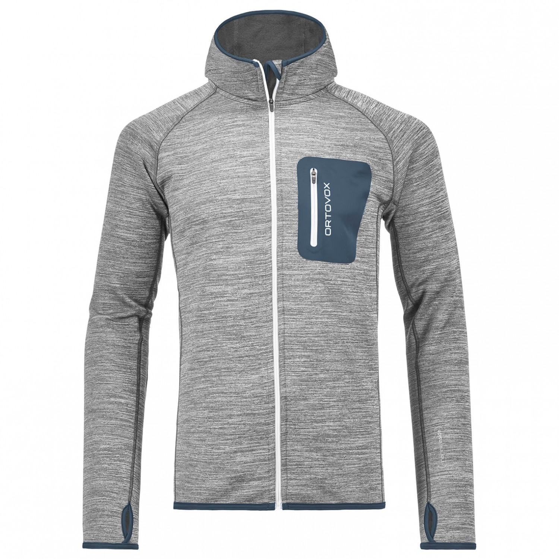 Ortovox Fleece Melange Hoody Wolljacke Grey Blend   XL