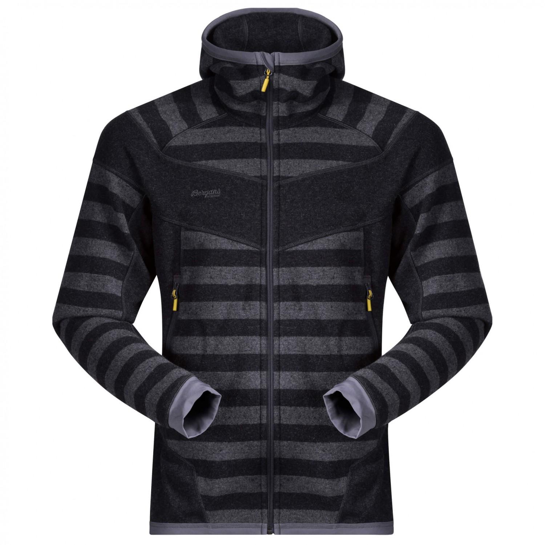 Bergans Hollvin Wool Jacket Wool jacket Dark Navy Night Blue Striped | S