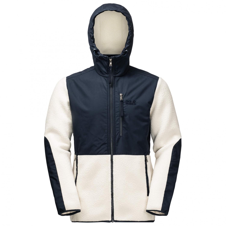jack wolfskin fleece hooded sherpa
