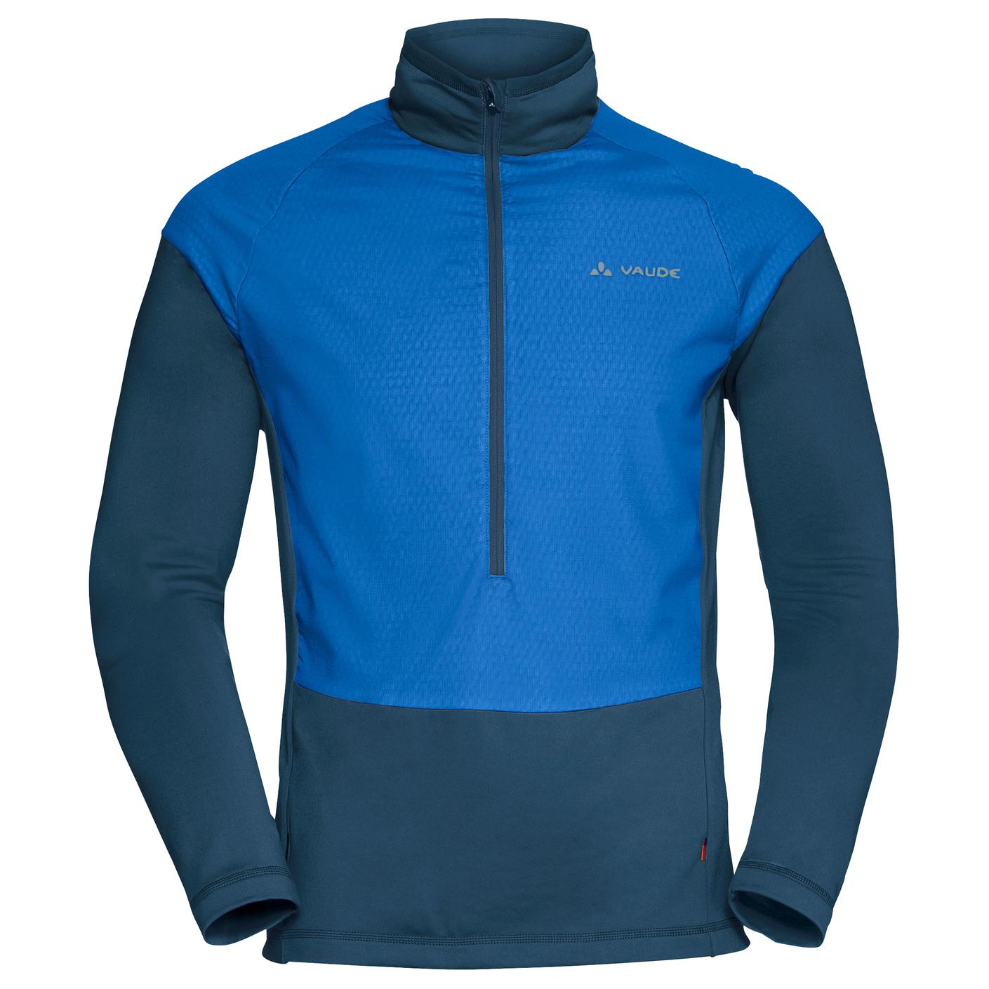 best sneakers 8e541 1f668 Vaude - Bormio Halfzip - Fleecepullover - Radiate Blue | S