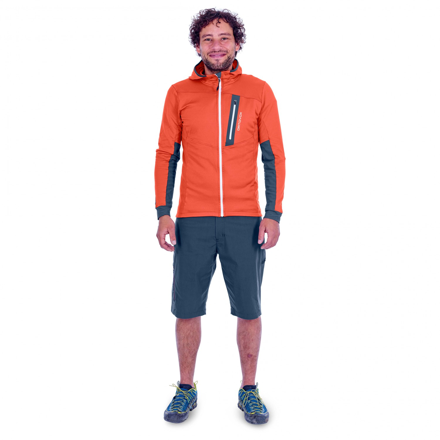 Ortovox Fleece Light Tec Hoody Fleece jacket Crazy Orange | XL
