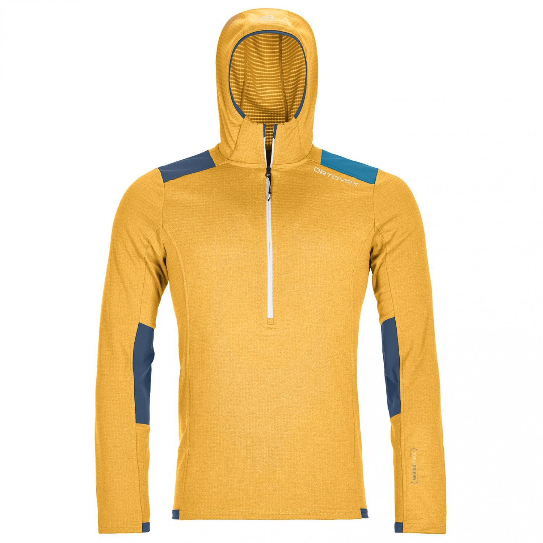 Ortovox Fleece Light Grid Zip Neck Hoody Fleece jumper