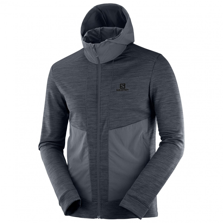 Salomon Outline Mid Jacket Fleecejacke Green Gables | S