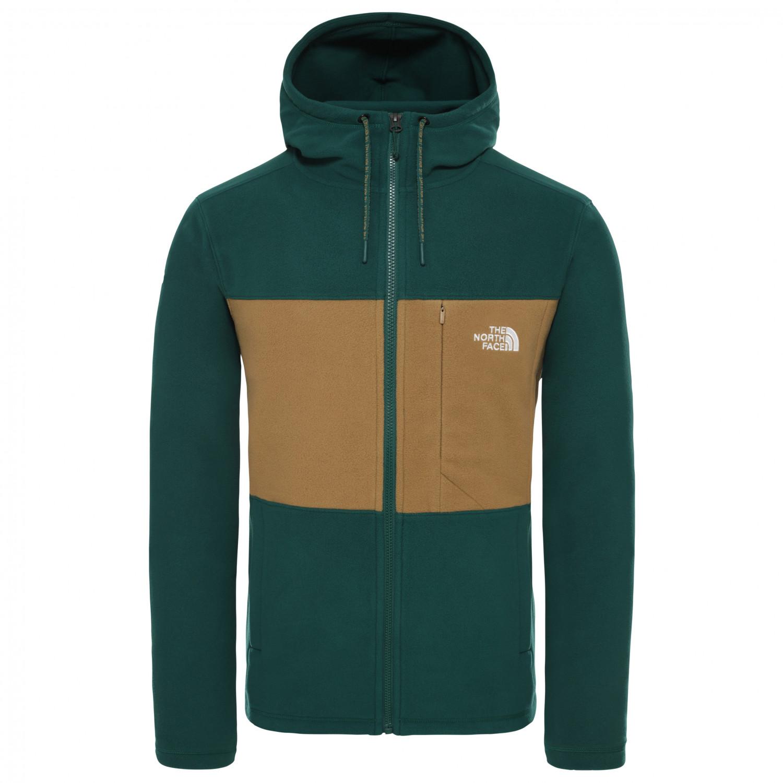 The North Face Blocked Fullzip Hoodie Fleece jacket Night Green British Khaki | S