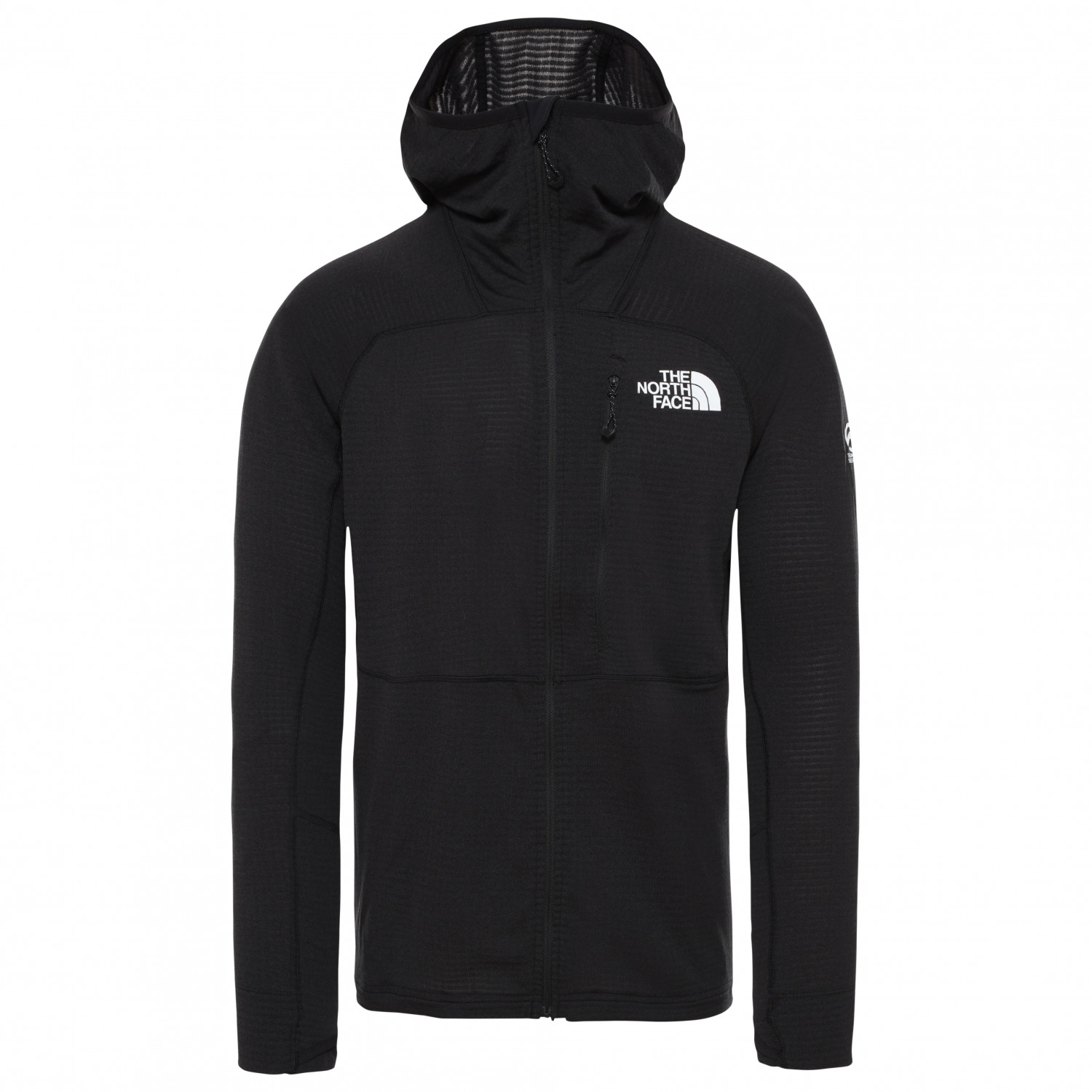 The North Face Summit L2 Power Grid LT Hoodie Giacca in pile Fiery Red | S