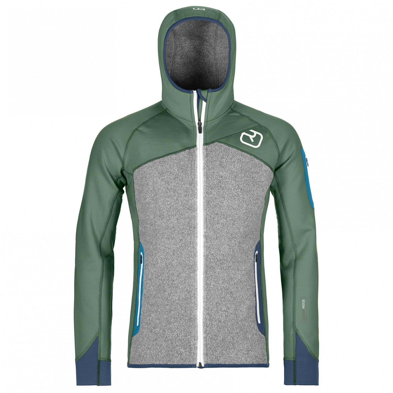 Ortovox Fleece Plus Hoody Fleece jacket Green Forest   S
