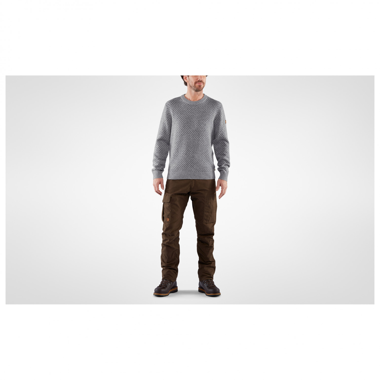 großer rabatt von 2019 neuer & gebrauchter designer klare Textur Fjällräven - Övik Nordic Sweater - Wool jumper - Dark Navy | S