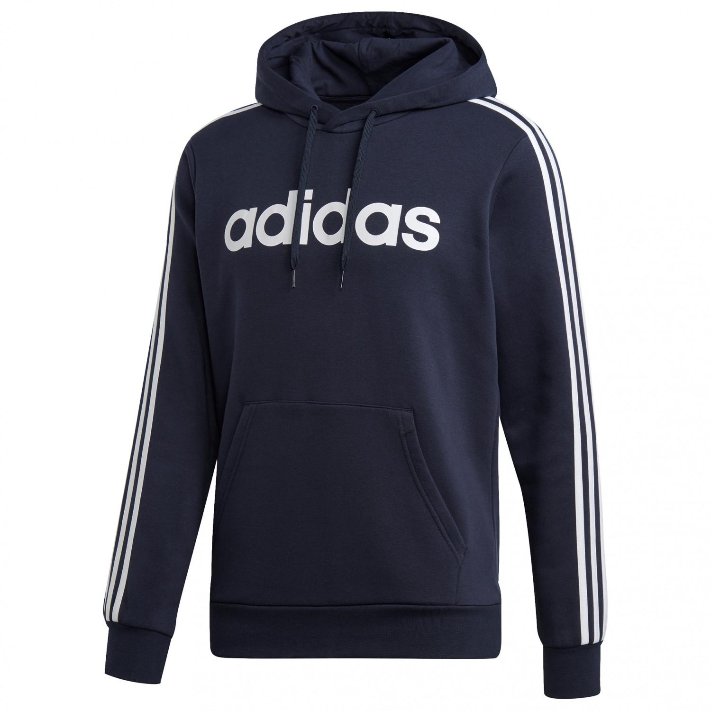 adidas Essentials 3 Stripes Pullover Fleece Fleecepullover Black White | S