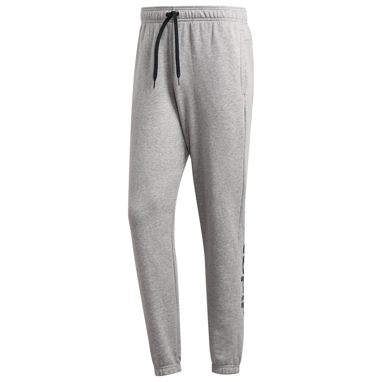 adidas Essentials Linear Pants FT Tracksuit trousers Medium Grey Heather Black | 3XL Regular