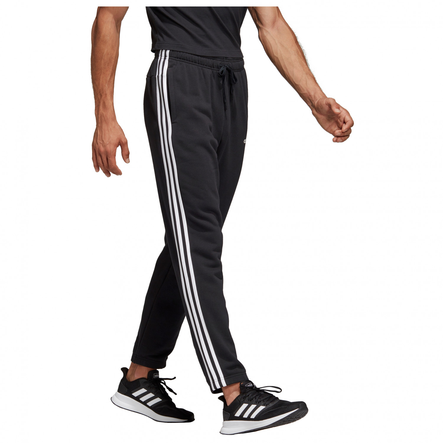 adidas Essentials 3 Stripes Tapered Pant FT Pantalon de jogging Legend Ink White | S Regular Fit