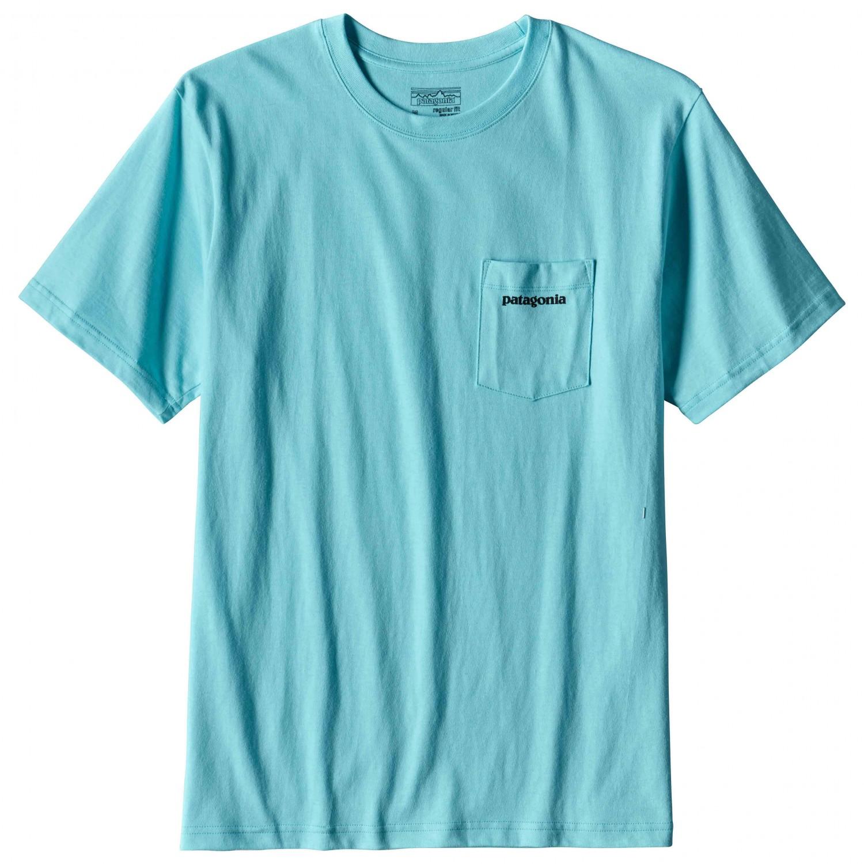 Patagonia p 6 logo cotton pocket t shirt t shirt herren for Pocket logo t shirt