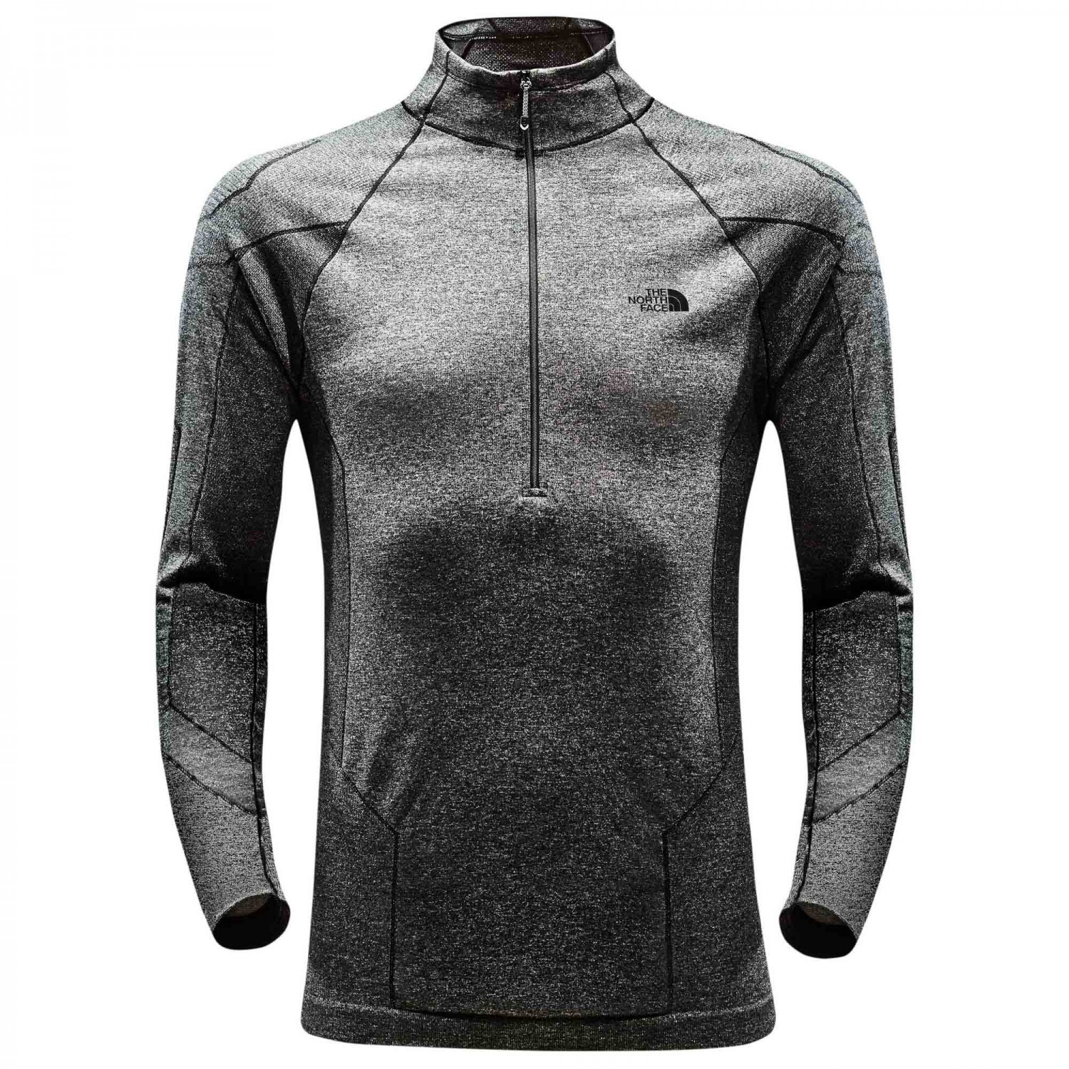 1a1b5aa9c The North Face - Summit L1 Top - Synthetic base layer - Black Heather | L