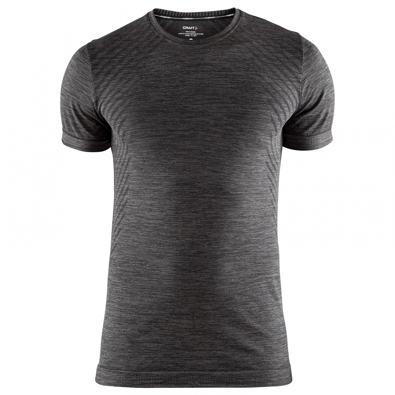 Craft Mens Fuseknit Comfort Long Sleeve Running Top Grey Sports Breathable
